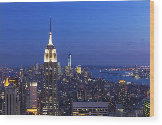 Tranquility Wood Print featuring the photograph Aerial View Of Empire State And Midtown by Future Light