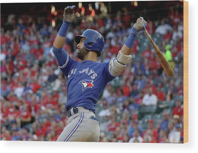 Three Quarter Length Wood Print featuring the photograph Division Series - Toronto Blue Jays V by Ronald Martinez