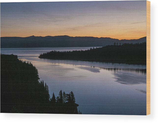 Scenics Wood Print featuring the photograph Exploring Lake Tahoe by George Rose