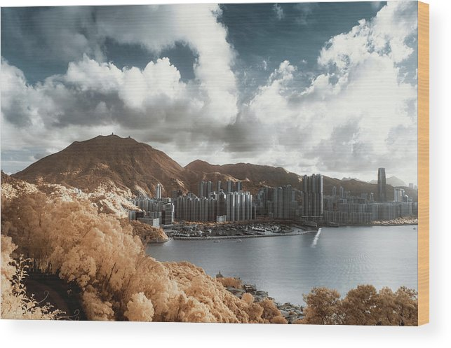 Tranquility Wood Print featuring the photograph Hong Kong by D3sign