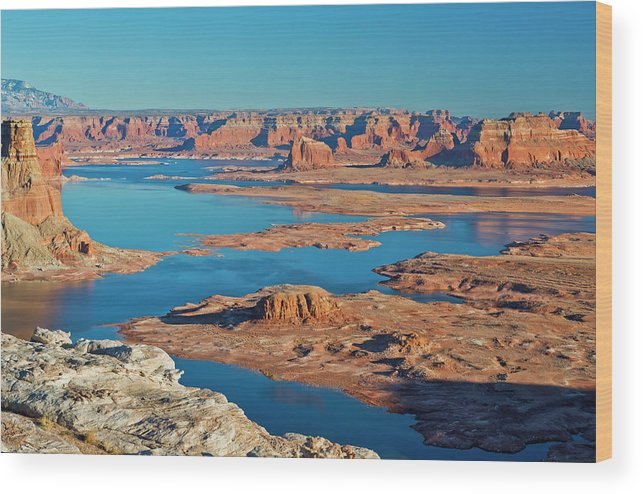 Tranquility Wood Print featuring the photograph Lake Powell by Chen Su