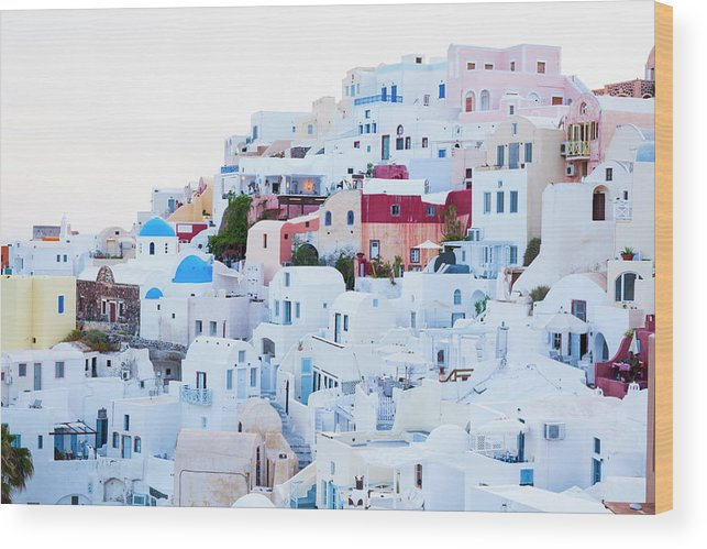 Tranquility Wood Print featuring the photograph Oia by Jorg Greuel