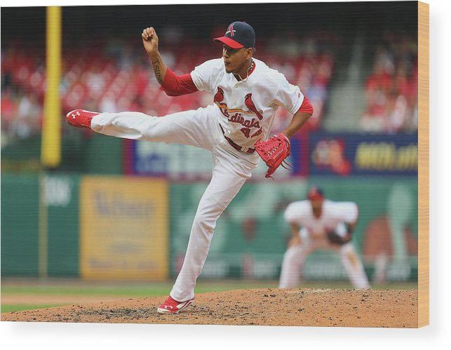 St. Louis Cardinals Wood Print featuring the photograph Pittsburgh Pirates V St. Louis Cardinals by Dilip Vishwanat
