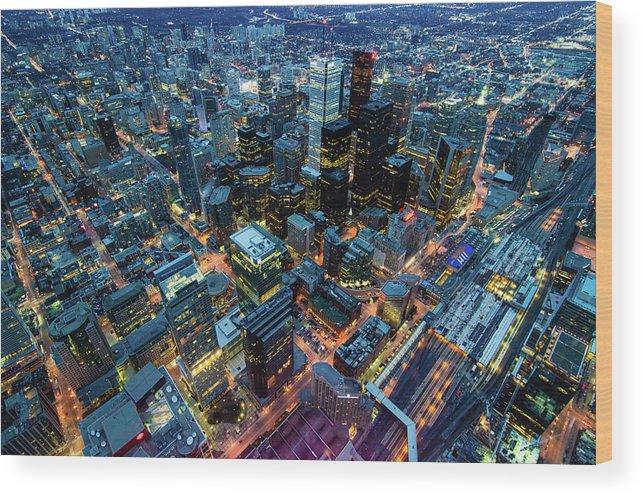 Toronto Wood Print featuring the photograph Toronto by Naeem Jaffer