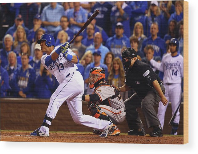 Game Two Wood Print featuring the photograph World Series - San Francisco Giants V by Dilip Vishwanat