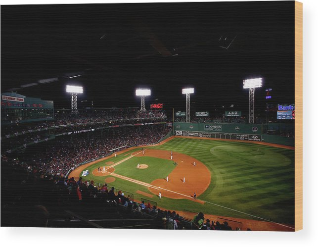 American League Baseball Wood Print featuring the photograph World Series - St Louis Cardinals V by Jared Wickerham