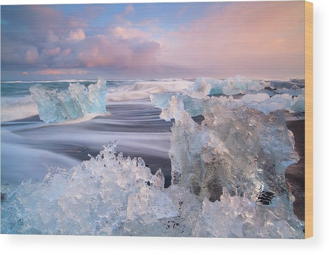 Scenics Wood Print featuring the photograph Iceland, Skaftafell, Jokulsarlon by Travelpix Ltd