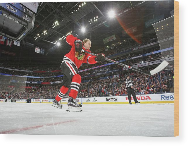 Event Wood Print featuring the photograph 2015 Honda Nhl All-star Skills by Dave Sandford