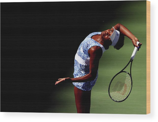 Tennis Wood Print featuring the photograph 2015 U.s. Open - Day 7 by Clive Brunskill