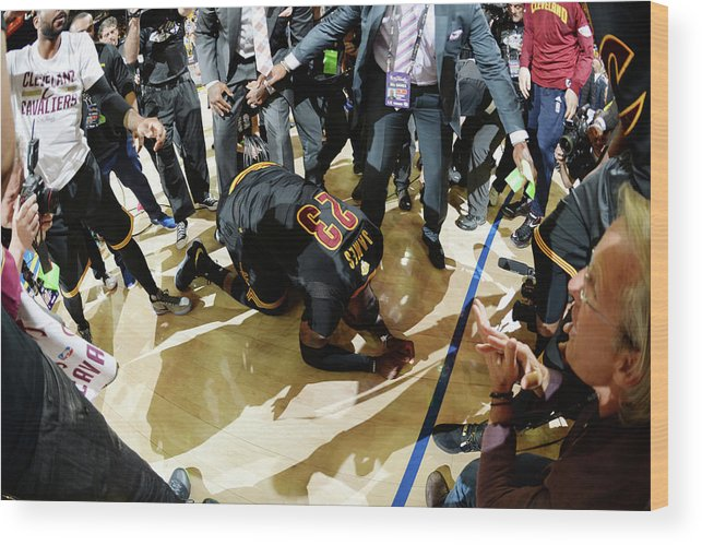 Playoffs Wood Print featuring the photograph 2016 Nba Finals - Game Seven by Andrew D. Bernstein