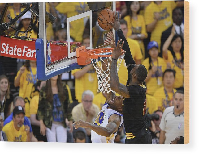 Playoffs Wood Print featuring the photograph 2016 Nba Finals - Game Seven by Thearon W. Henderson