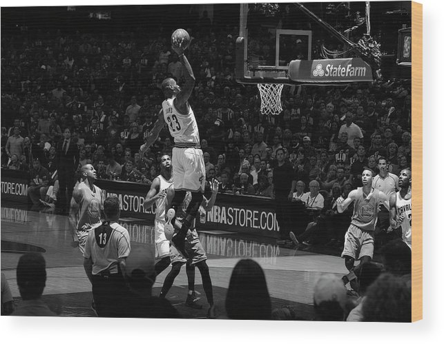 Nba Pro Basketball Wood Print featuring the photograph 2016 Nba Finals - Game Three by Jesse D. Garrabrant