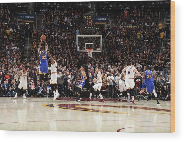 Playoffs Wood Print featuring the photograph 2017 Nba Finals - Game Three by Andrew D. Bernstein
