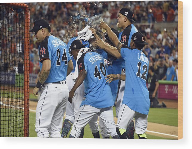 American League Baseball Wood Print featuring the photograph 2017 T-Mobile Home Run Derby by LG Patterson