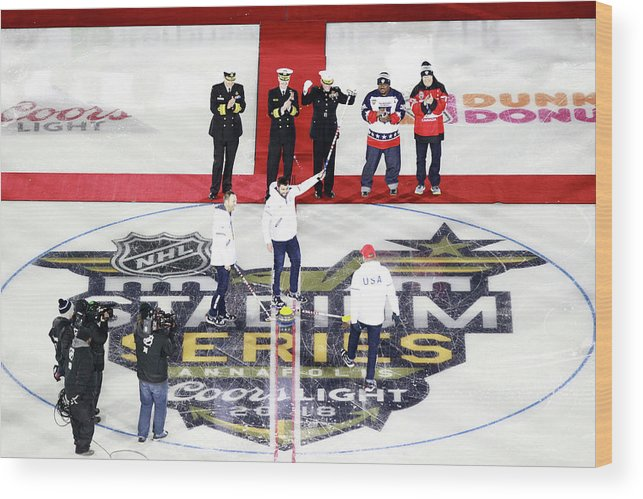 National Hockey League Wood Print featuring the photograph 2018 Coors Light Nhl Stadium Series - by Jeff Vinnick