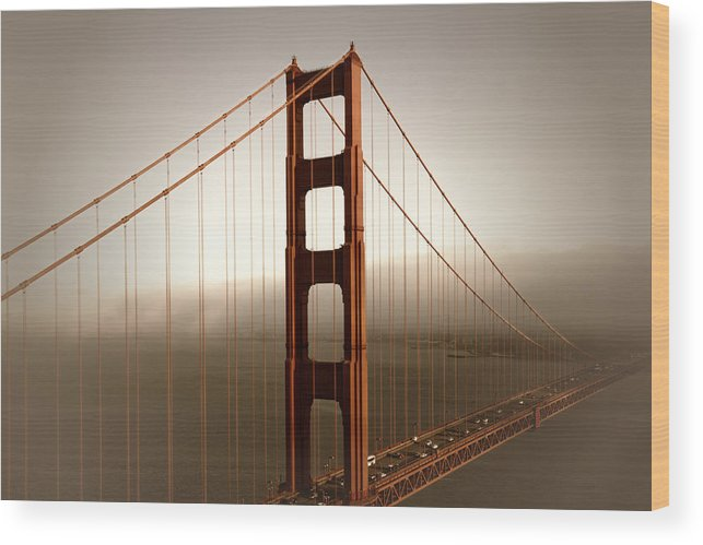 America Wood Print featuring the photograph Lovely Golden Gate Bridge by Melanie Viola