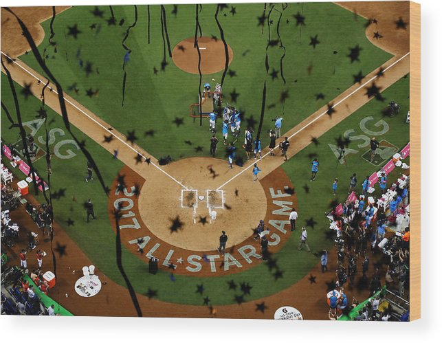 People Wood Print featuring the photograph T-Mobile Home Run Derby by Mike Ehrmann