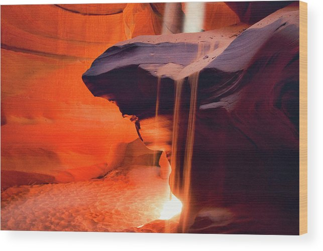 Native American Reservation Wood Print featuring the photograph Upper Antelope Canyon by Powerofforever