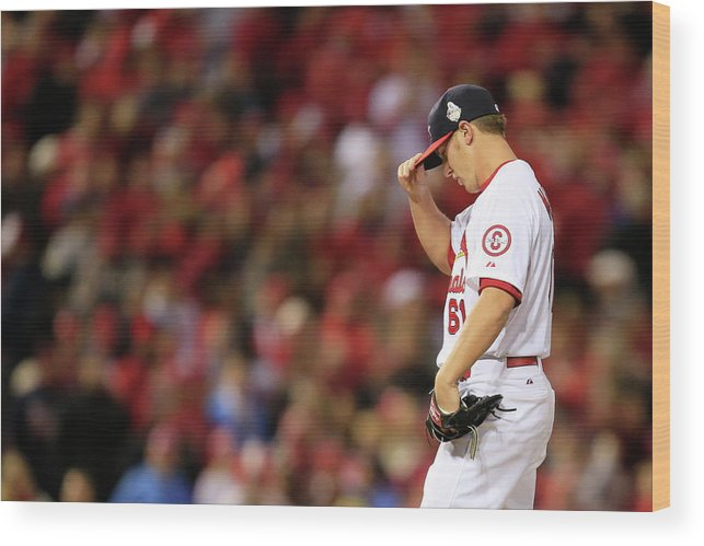 St. Louis Cardinals Wood Print featuring the photograph World Series - Boston Red Sox V St by Dilip Vishwanat
