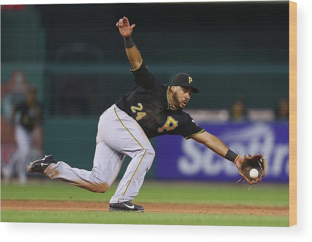 Ball Wood Print featuring the photograph Pittsburgh Pirates V St. Louis Cardinals by Dilip Vishwanat