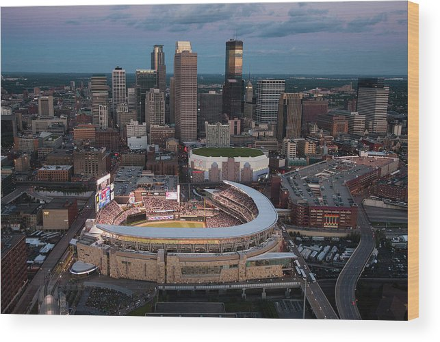 All Star Game Wood Print featuring the photograph 85th Mlb All-star Game Aerials by Steven Bergerson