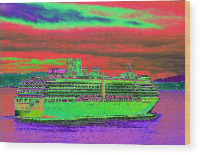 Holland America Wood Print featuring the photograph A More Colorful HAL by Richard Henne