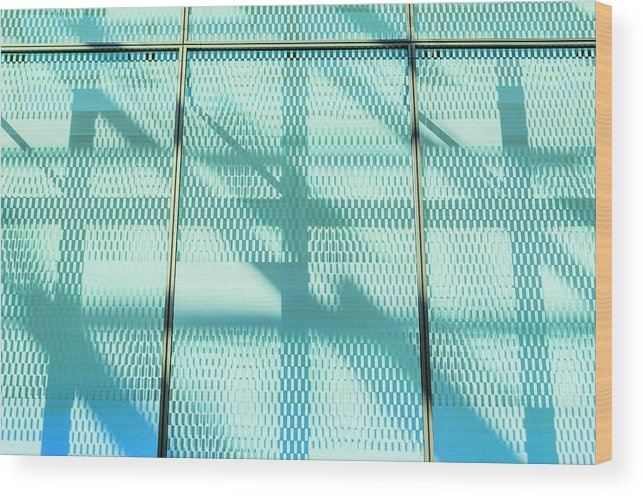 Berlin Wood Print featuring the photograph Architectural Detail Of Modern Shopping by Ingo Jezierski