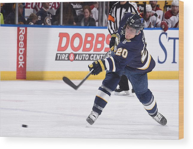 National Hockey League Wood Print featuring the photograph Arizona Coyotes V St Louis Blues by Scott Rovak