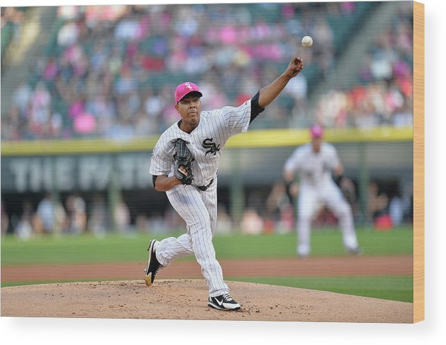 American League Baseball Wood Print featuring the photograph Arizona Diamondbacks V Chicago White Sox by Brian Kersey