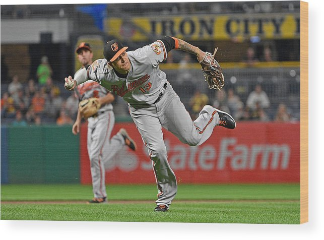People Wood Print featuring the photograph Baltimore Orioles v Pittsburgh Pirates by Justin Berl
