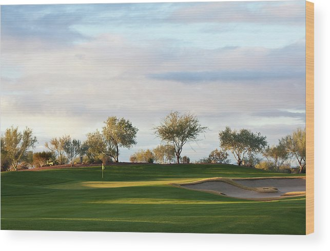Sand Trap Wood Print featuring the photograph Beautiful Desert Golf Course by Imaginegolf