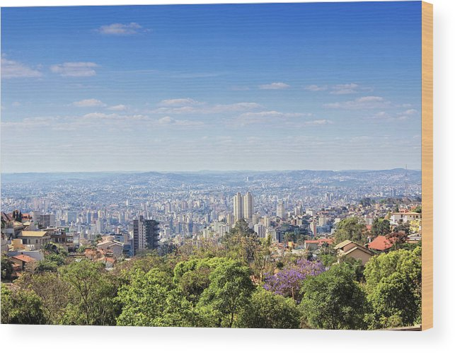 Tranquility Wood Print featuring the photograph Belo Horizonte by Antonello