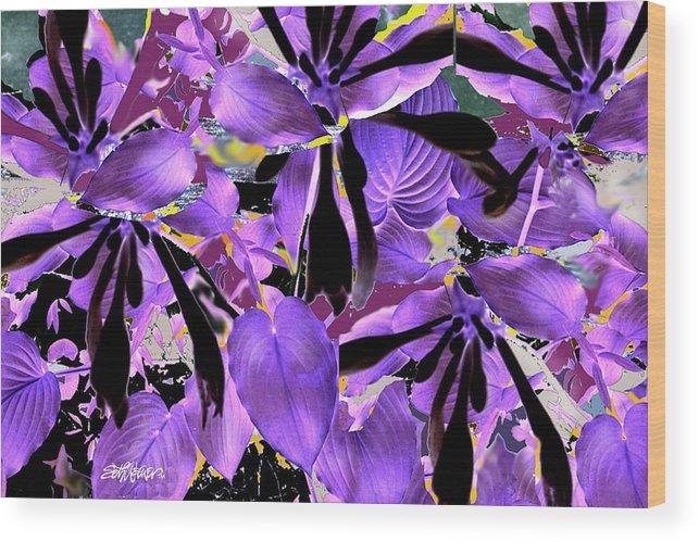 Beware The Midnight Garden Wood Print featuring the digital art Beware The Midnight Garden by Seth Weaver