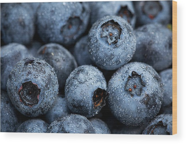 Surrey Wood Print featuring the photograph Blueberries Fruits by Kevin Van Der Leek Photography