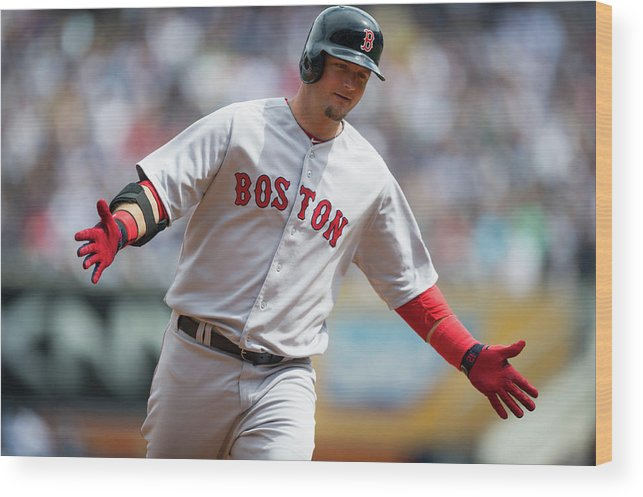 East Wood Print featuring the photograph Boston Red Sox V. New York Yankees by Rob Tringali