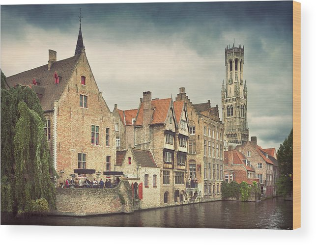 Tranquility Wood Print featuring the photograph Brugge by Ellen Van Bodegom
