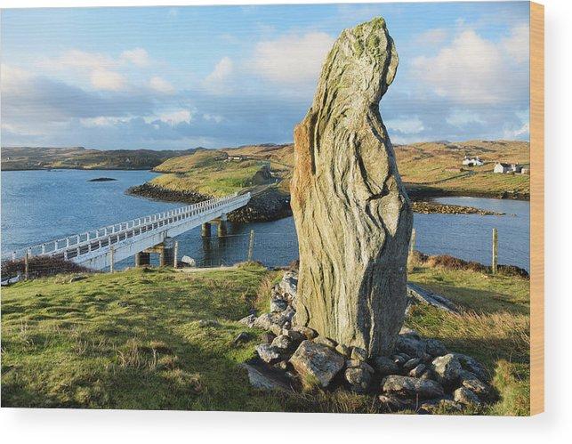 Prehistoric Era Wood Print featuring the photograph Callanish Viii Standing Stone, Isle Of by Theasis