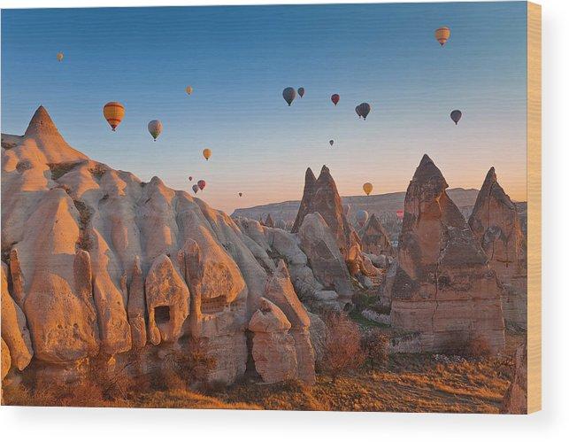 Wind Wood Print featuring the photograph Cappadocia, Turkey by Benstevens