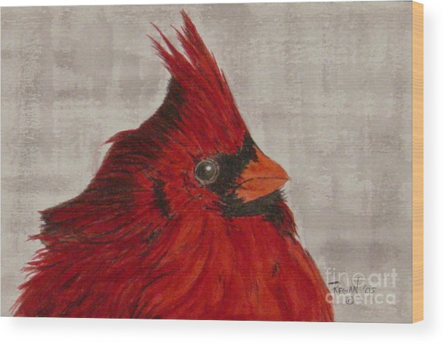 Cardinal Wood Print featuring the painting Cardinal by Regan J Smith