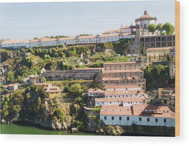Clear Sky Wood Print featuring the photograph Casa Calem, Port Wine Houses, Porto by John Harper