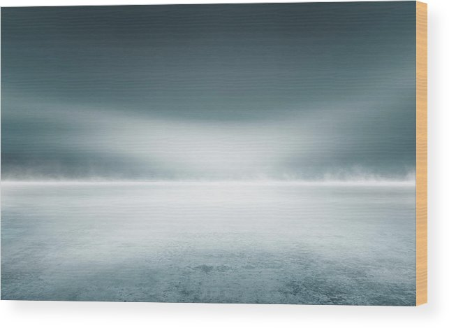 Tranquility Wood Print featuring the digital art Cold Studio Background by Aaron Foster
