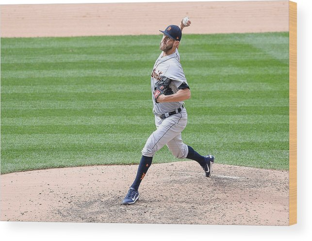 Ninth Inning Wood Print featuring the photograph Detroit Tigers V Colorado Rockies by Dustin Bradford
