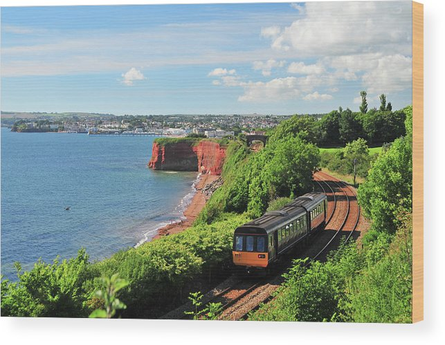 Passenger Train Wood Print featuring the photograph Devon Train by Maxian