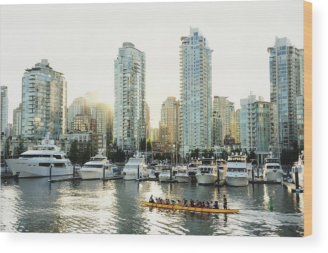 Tranquility Wood Print featuring the photograph Dragon Boating In Vancouver by Carlina Teteris
