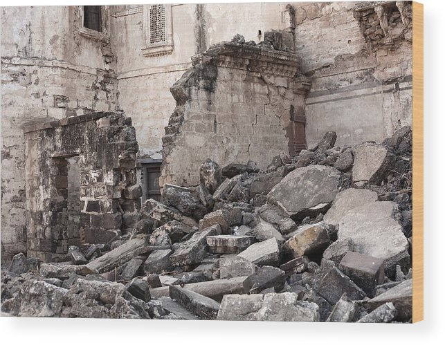 Rubble Wood Print featuring the photograph Earthquake Damage From Bhuj, India by Traveler1116