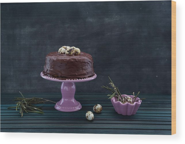 Easter Wood Print featuring the photograph Easter Eggs by Flavia Morlachetti