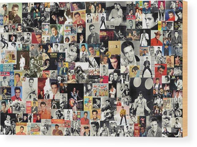 Elvis Presley Wood Print featuring the digital art Elvis The King by Zapista OU