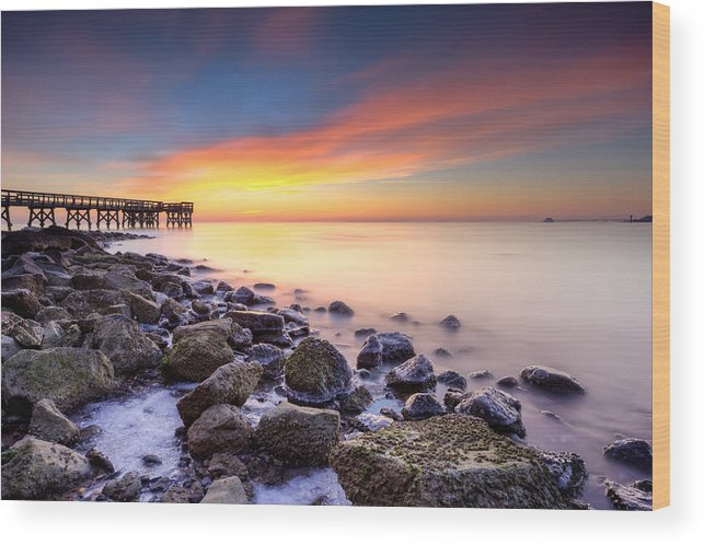 Dawn Wood Print featuring the photograph everytime I wake by dKi-photography