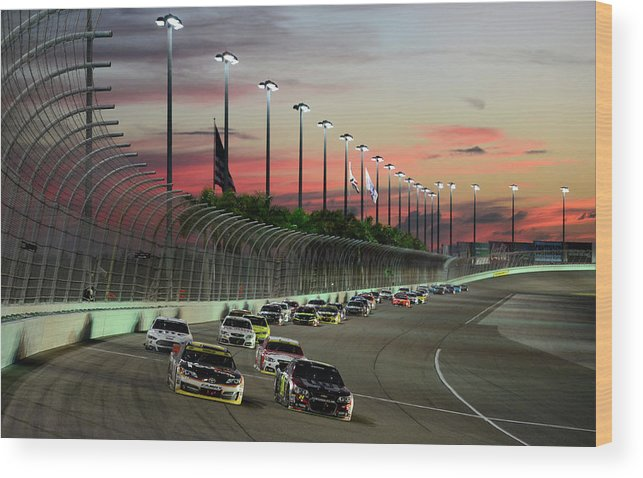 Sport Wood Print featuring the photograph Ford Ecoboost 400 by Robert Laberge