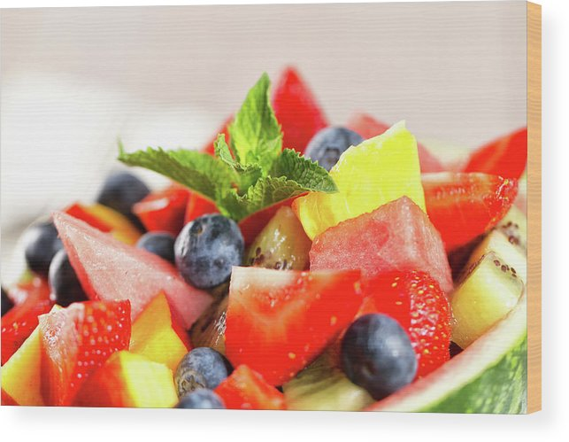 Breakfast Wood Print featuring the photograph Fruit Salad by Svariophoto
